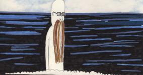 Långt ut på stora havet i en båt, där sitter gubben Landgörst och är våt.